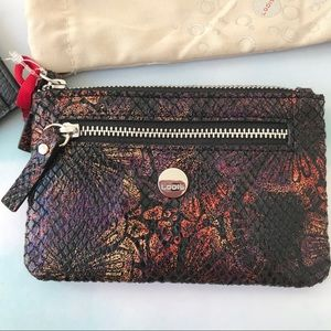Lodis Multicolor Iridescent Leather Card Holder